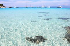 Voutoumi beach Antipaxos island Greece Royalty Free Stock Images