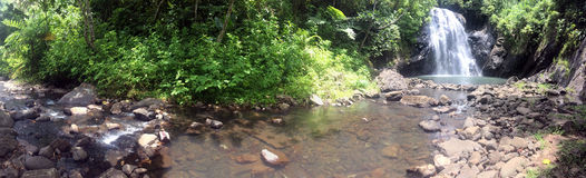 Landscape of Vuadomo Waterfall near Savusavu Fiji Royalty Free Stock Photo