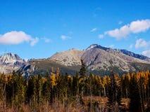 Landscape Vysoke Tatry in Autumn.  stock photos