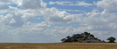 Landscape w/ Kopje - Serengeti (Tanzania, Africa) Royalty Free Stock Photo