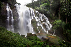 Landscape of wachirathan waterfall, Inthanon National Park, Thai Royalty Free Stock Image
