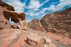 Landscape of Wadi Rum Stock Photos