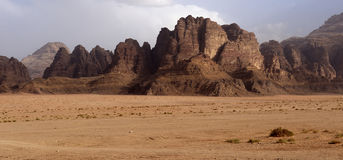 Landscape in Wadi Rum Royalty Free Stock Photos