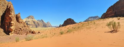 Landscape in Wadi Rum Royalty Free Stock Image