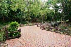 Landscape of walkway bidge Royalty Free Stock Photo