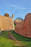 Landscape with walls of old fortress. In Belgrade,Serbia Royalty Free Stock Photos