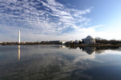 Landscape Washington DC Tidal Basin and Monuments Royalty Free Stock Images