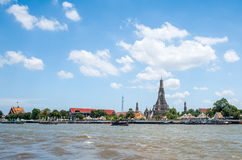 Landscape Wat Arun Buddhist religious places royalty free stock photos