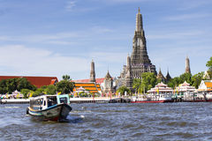 Landscape of Wat Arun Buddhist religious places of importance to Stock Photography