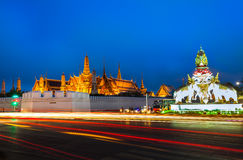 Landscape of Wat Prakaew where is the most popular place Stock Image