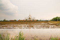 Landscape wat thai at chachoengsao Stock Images