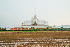 Landscape wat thai at chachoengsao Royalty Free Stock Photography
