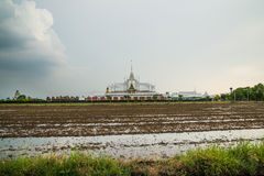 Landscape wat thai at chachoengsao Stock Image