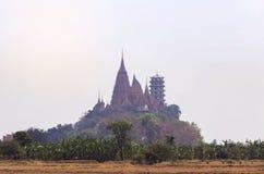 Landscape of wat tham sua public buddhist thai temple Royalty Free Stock Images