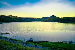 Landscape Water storage dams Royalty Free Stock Photo
