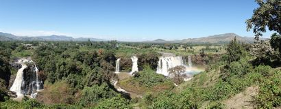 Waterfall blue nile. Landscape and waterfall Blue Nile with rainbow - Ethiopia - Africa royalty free stock photography