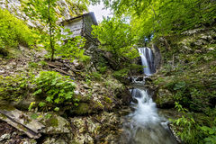 Landscape with waterfall from the Carpathians Stock Photo