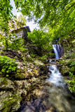 Landscape with waterfall from the Carpathians Stock Photos