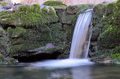 Landscape with waterfall - horizontal Royalty Free Stock Photos