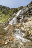 Landscape with waterfall in the Ordina Arcalis area in Andorra. Between France and Spain Royalty Free Stock Image