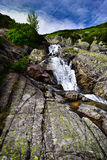 Landscape of waterfall Siklawa in Tatras Stock Photography