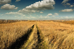 Landscape with way Royalty Free Stock Photo