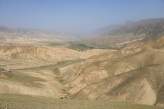 Landscape on the way from Kochkor to Song Kul lake. In Kyrgyzstan stock photos