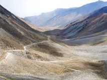 Landscape of the way from Leh to Pangong Lake, Ladakh, India. Stock Photos
