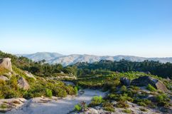 Landscape, way to Poço Azul, National Park of Peneda-Geres, Por Stock Images
