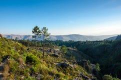 Landscape, way to Poço Azul, National Park of Peneda-Geres, Portugal stock photos
