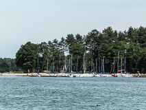 Landscape of Wdzydze Lake in Poland royalty free stock images