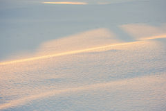 Landscape. weather, snowdrifts in the foreground Stock Photo