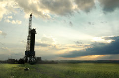 Landscape with the wellbore Stock Image