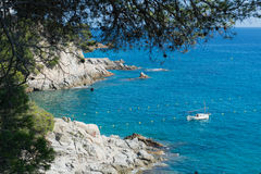 Landscape west coast Costa Brava Royalty Free Stock Photography
