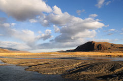 Landscape in Western Mongolia 2. Typical landscape in Western Mongolia, Altai region Royalty Free Stock Photos