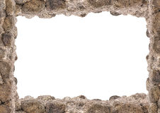 Landscape White Frame With Rock Borders. White landscape frame background with rock borders Royalty Free Stock Image
