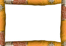 Landscape White Frame with Trunk Borders. White frame background with decorated design borders Royalty Free Stock Photo
