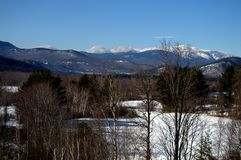 Landscape of the White Mountains, North Conway NH stock images