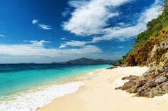 White sand beach.  Stock Photo