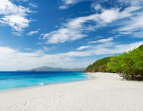 White sand beach Stock Photo
