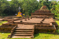 Landscape with Wiang Kum Kam, The ancient city near Chiang Mai Stock Photography