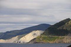Landscape of wild coast in mutriku Royalty Free Stock Image