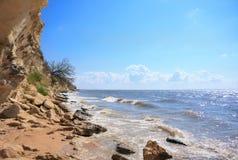 Landscape wild the sea coast Royalty Free Stock Photo