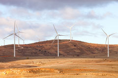 Landscape with wind park Royalty Free Stock Photos