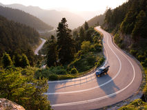Landscape for winding road Stock Photos