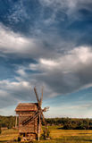 Landscape with a windmill Royalty Free Stock Photography