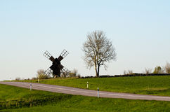 Landscape with a windmill Royalty Free Stock Photo