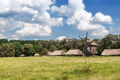 Landscape with windmill Royalty Free Stock Image