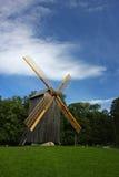 landscape windmillen Arkivbild