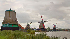 Landscape of windmills Royalty Free Stock Photos
